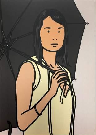 Julian Opie - Hijri with Umbrella