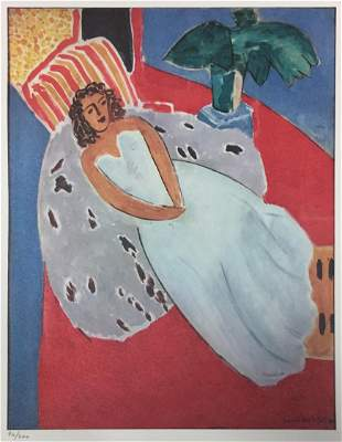 Henri Matisse - Young Woman in White on a Red