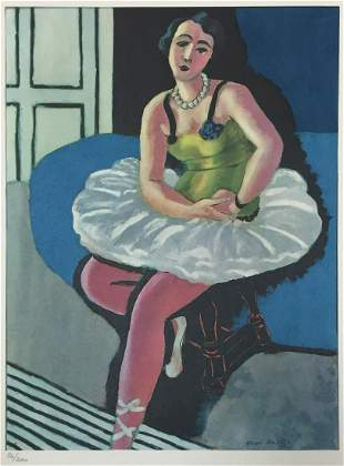 Henri Matisse - Ballet Dancer Seated on a Stool
