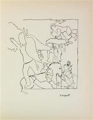 "Marc Chagall - Untitled (Barnyard) from ""Le Dur Desir"
