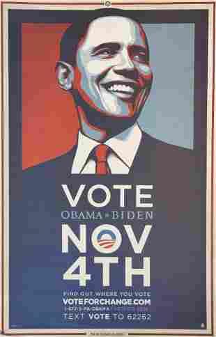 Shepard Fairey - Vote (Obama + Biden)