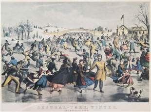 Currier and Ives - Central Park Winter (The Skating