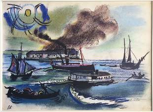 Oskar Kokoschka (After) - Schiffe vor Venedig