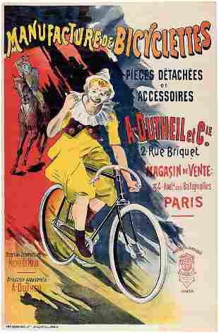 Vintage Poster - A. Dutheil Bicycle Ad Poster