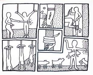 Keith Haring - Untitled (Blueprint Series)