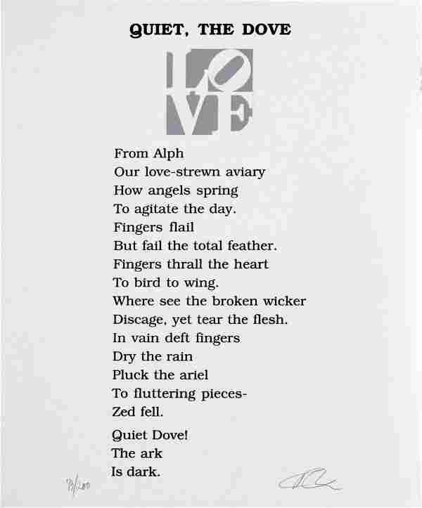 Robert Indiana - Quiet the Dove