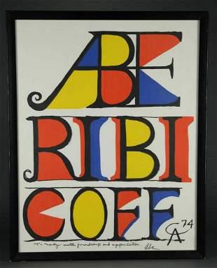 Alexander Calder - Abe Ribicoff