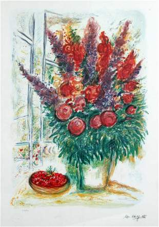 Marc Chagall - Bouquet with Bowl of Cherries