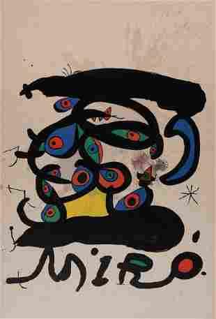 Joan Miro - Affiche Pour L'Exposition Peintres sur