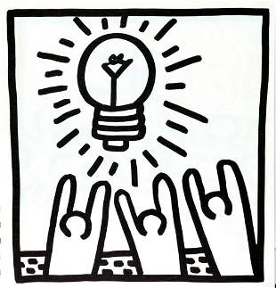 Keith Haring - Untitled (Light Worship)