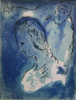 "Marc Chagall - Abraham and Sarah  from ""Verve Vol."