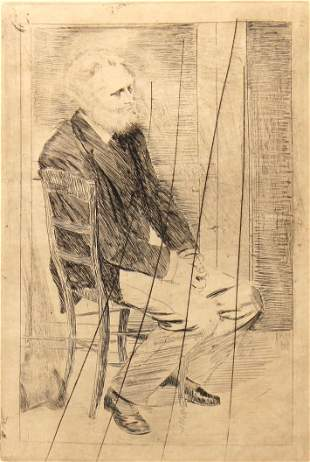 Edgar Degas - Manet Seated Turned to the Right