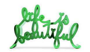 Mr. Brainwash - Life is Beautiful - Green Candy Apple