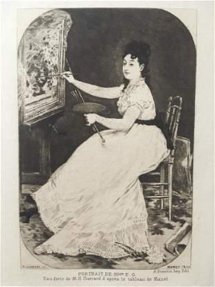 Edouard Manet (After) - Portrait of Mademoiselle Eva