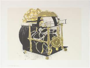 Donald Sultan - Dutch Clock with Verge Encapment