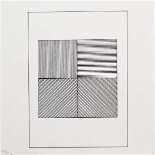 """Sol Lewitt - Untitled XVI from """"Ficciones: Jorge Luis"""