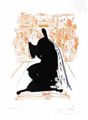 Salvador Dali - Figure in an Ermine Cloak