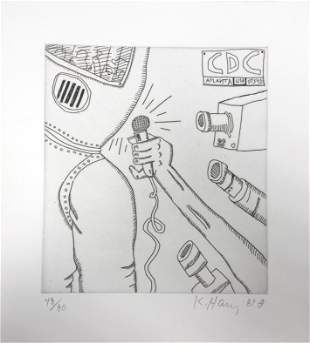 """Keith Haring - Untitled II from """"The Valley"""""""