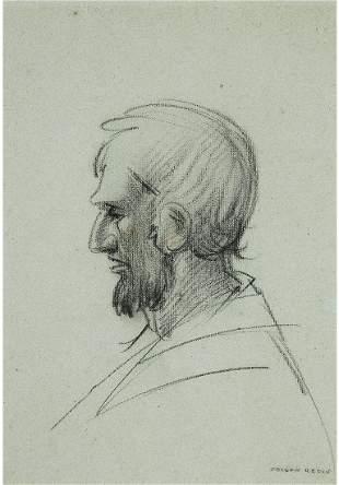 Odilon Redon - Man in Profile