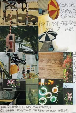 Robert Rauschenberg - Gala Grand Opening 1984 Poster