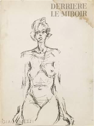 Alberto Giacometti - Cover from Derriere le Miroir No.