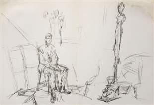 Alberto Giacometti - Untitled (Studio) from Derriere le