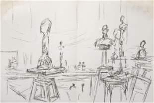 Alberto Giacometti - Untitled (Studio II) I from