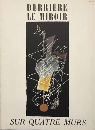 Georges Braque - Cover from Derriere le Miroir No.
