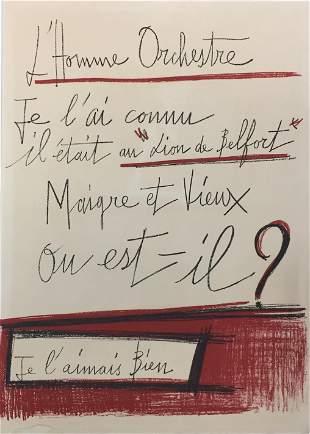 Bernard Buffet - L'homme Orchestre Title Sheet