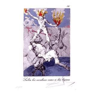 Salvador Dali - Subia las escaleras como si las bajara