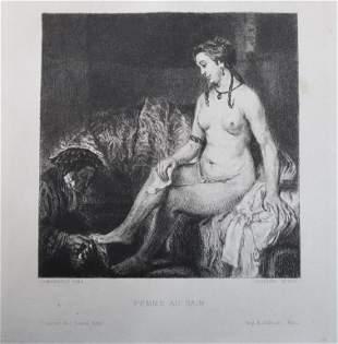 Rembrandt van Rijn (After) - Femme Au Bain