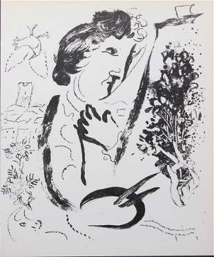 Marc Chagall - The Artist in Front of his Picture