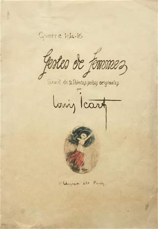 Louis Icart - Chronicles of Women Cover Sheet