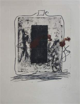 Antoni Tapies - Untitled Original Etching