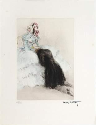 Louis Icart - On His Knees