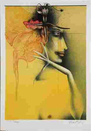 Paul Wunderlich - Tete de Femme