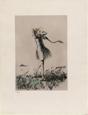 "Louis Icart - Carefree from ""L'ingenue Libertine"""
