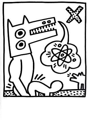Keith Haring - Atomic Dog (from Lucio Amelio Suite)