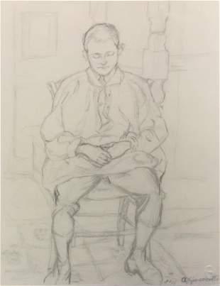 Alberto Giacometti - Ritratto di Diego Fanciullo