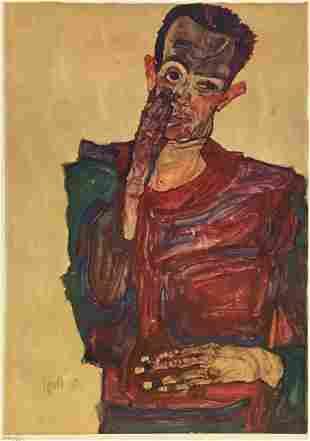 Egon Schiele (After) - Self Portrait