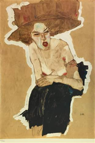 Egon Schiele (After) - The Scornful One