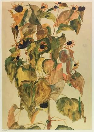 Egon Schiele (After) - Sunflowers