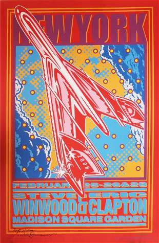 John Van Hamersveld - Eric Clapton Steve Winwood NY Gig