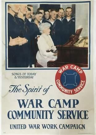 Vintage Poster - The Spirit of War Original WWI Ad