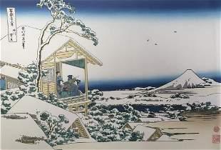 Hokusai Katsushika - Morning After Snow in Koshikawa