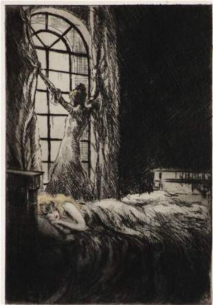 """Louis Icart - A New Day from """"L'ingenue Libertine"""""""