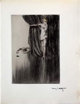 "Louis Icart - Gruesome Deed from ""L'ingenue Libertine"""