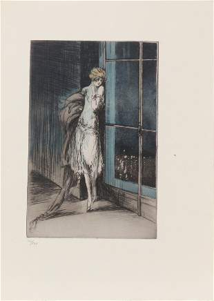 """Louis Icart - City View from """"L'ingenue Libertine"""""""