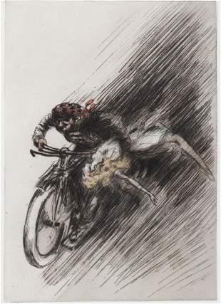 "Louis Icart - Cycle Demon from ""L'ingenue Libertine"""
