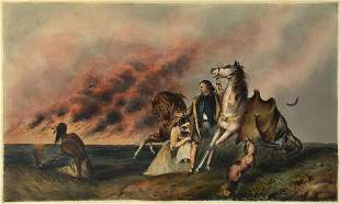 Charles Bird King - Prairie on Fire (The Escape)